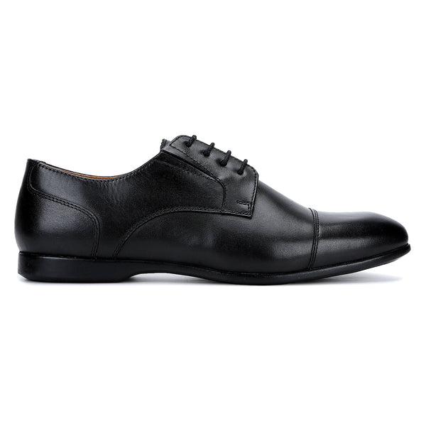 Rush: Black Cap-toe Derby