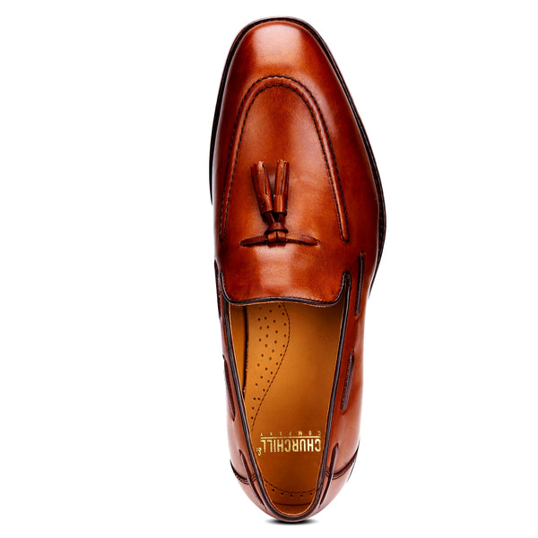 Ivy: Tan Tasselled Loafer