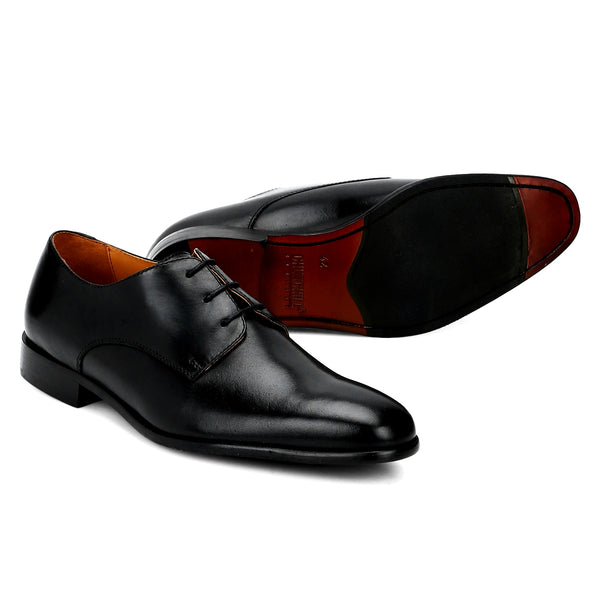Zeeky: Black Plain Toe Derby