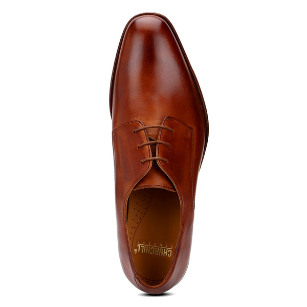 Zeeky: Tan Plain Toe Derby