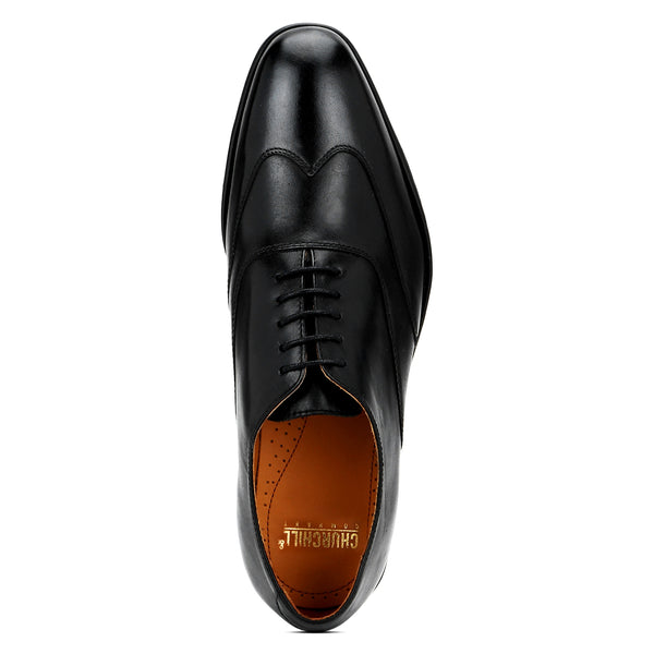 Ross: Black Wingtip Oxford