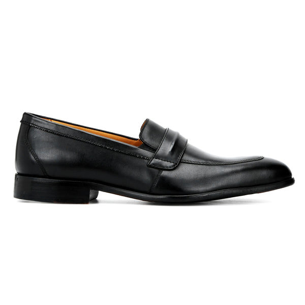 Bryan: Black Saddle Loafer