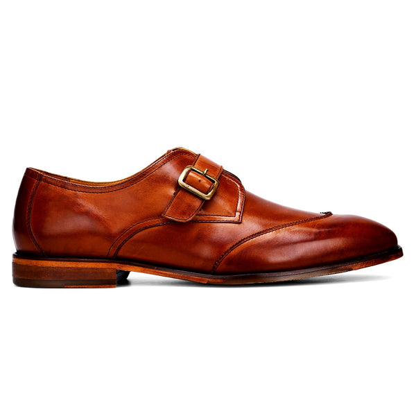 Harry: Tan Single Monk Strap