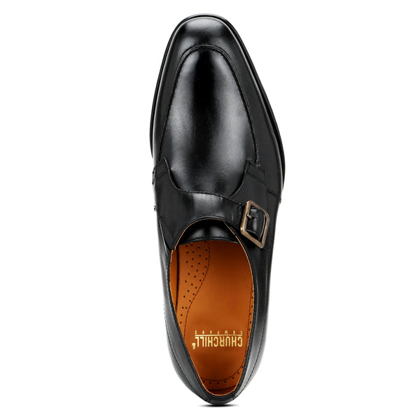 Craig: Black Single Monk Strap