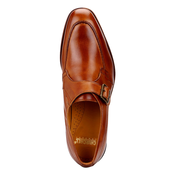Craig: Tan Single Monk Strap