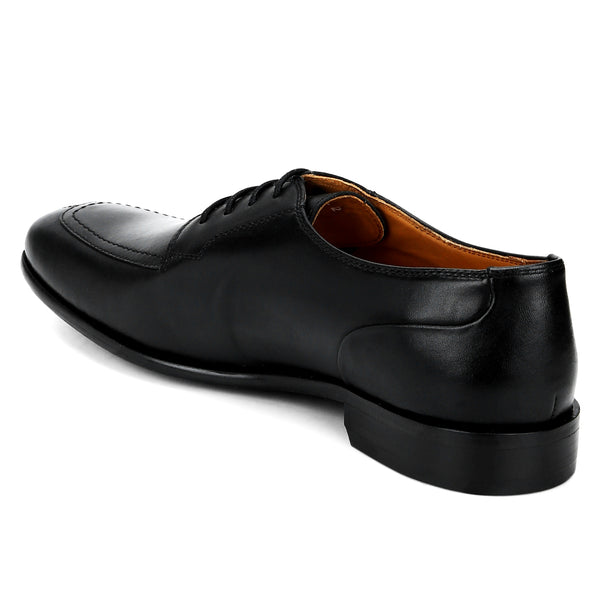 Bradley: Black Split Toe Derby