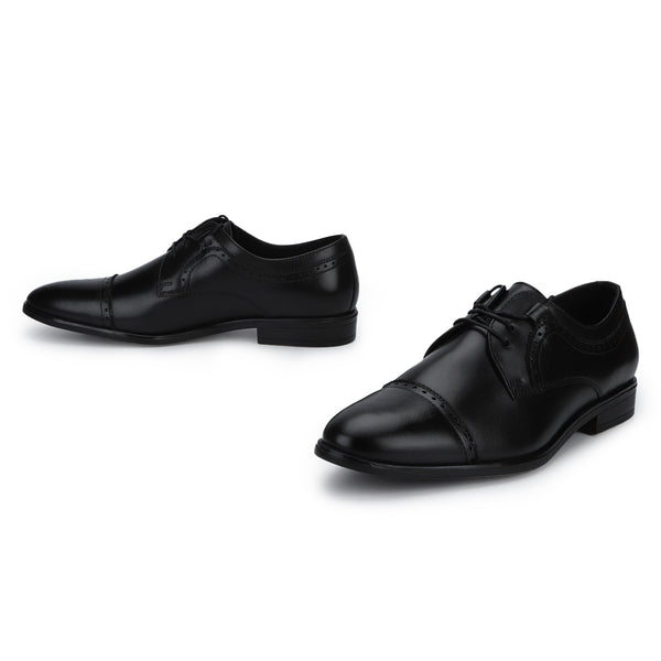 Muller: Black Cap-toe Derby