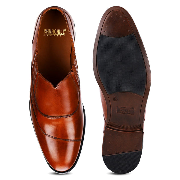 Harrow: Tan Modern Slip-On