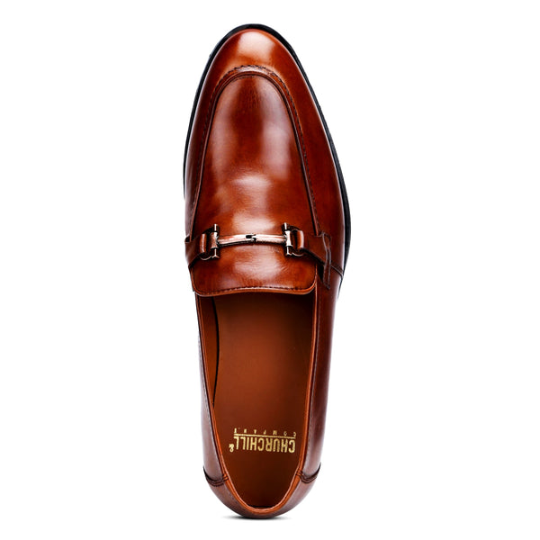 Cobb: Burnished Tan Bit Loafer