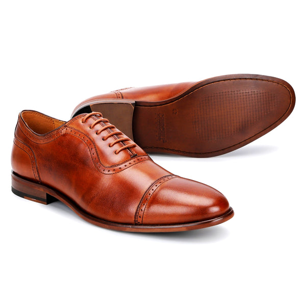 Scott: Tan Brogue Toe-Cap