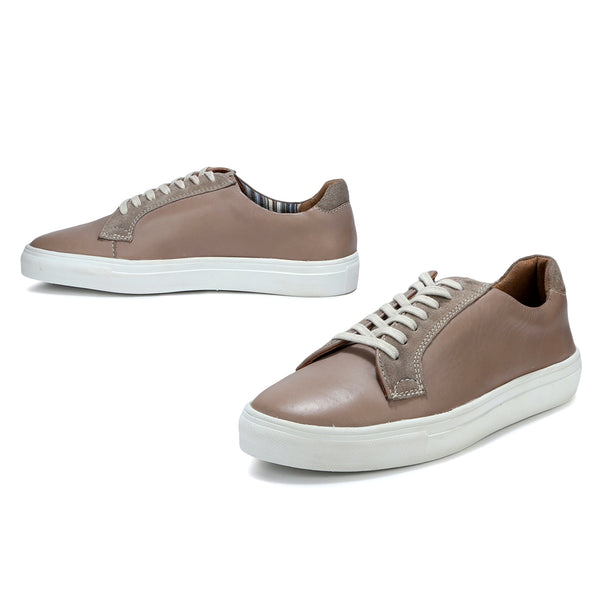 Pepe: Stone Grey Lace-up Sneaker