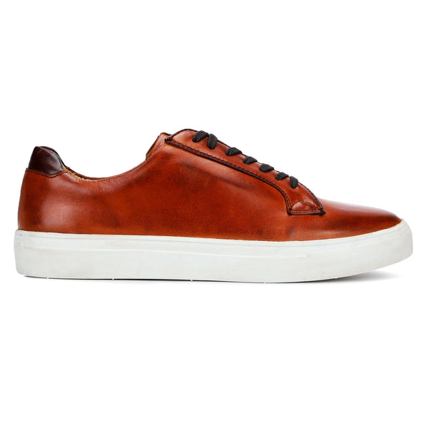 Pepe: Tan Lace-up Sneaker