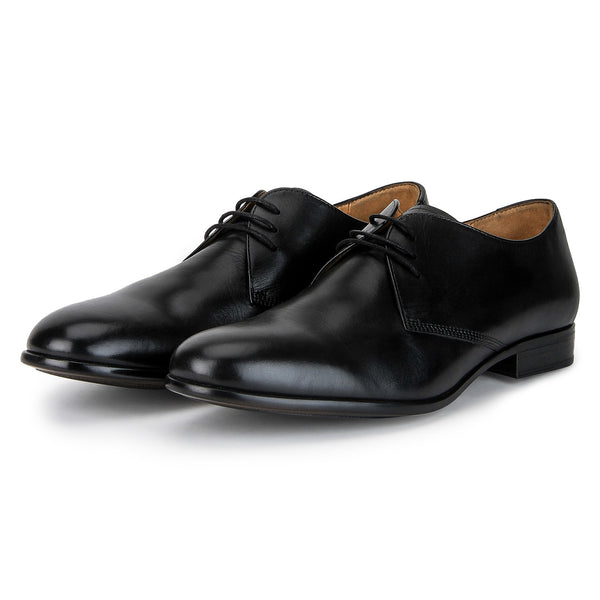 Iver: Black Lace Up Derby