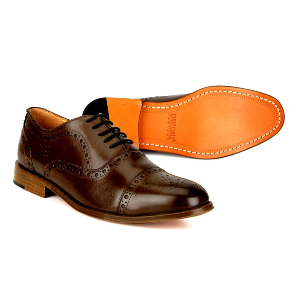 Smith: Brown Brogue Oxford