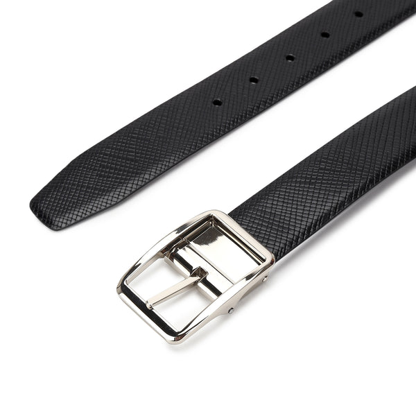 Jake: Burgundy & Black Reversible Belt