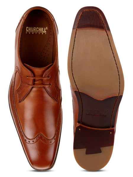 Brook: Tan Wingtip Derby