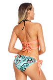 Maillot de Bain Bikini Push Up 2 Piece Bas de Cravate