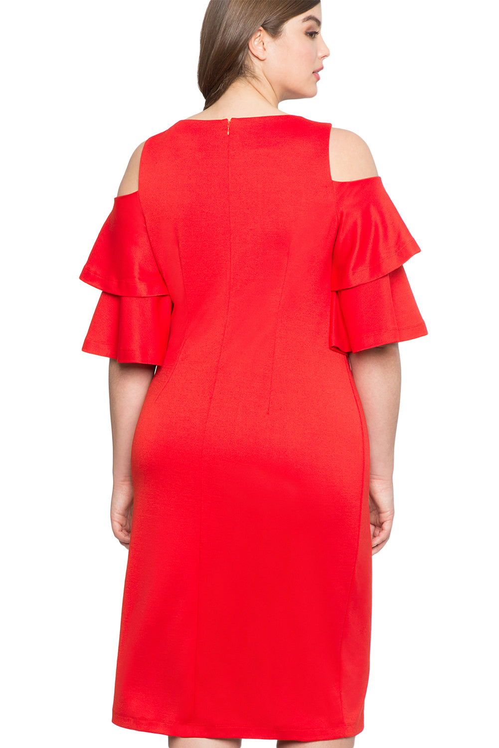 aae46621df Robe Femme Ronde Chic Rouge Volant Manche Du Froid Epaule MB610319-3 –  ModeBuy.com