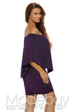 Robe a Volant Courte Chic Violet Vinaigrette de Multiples Couches
