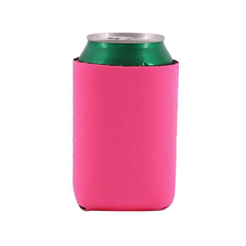 Sublimation blank Neoprene Can Cooler - Pink Neon