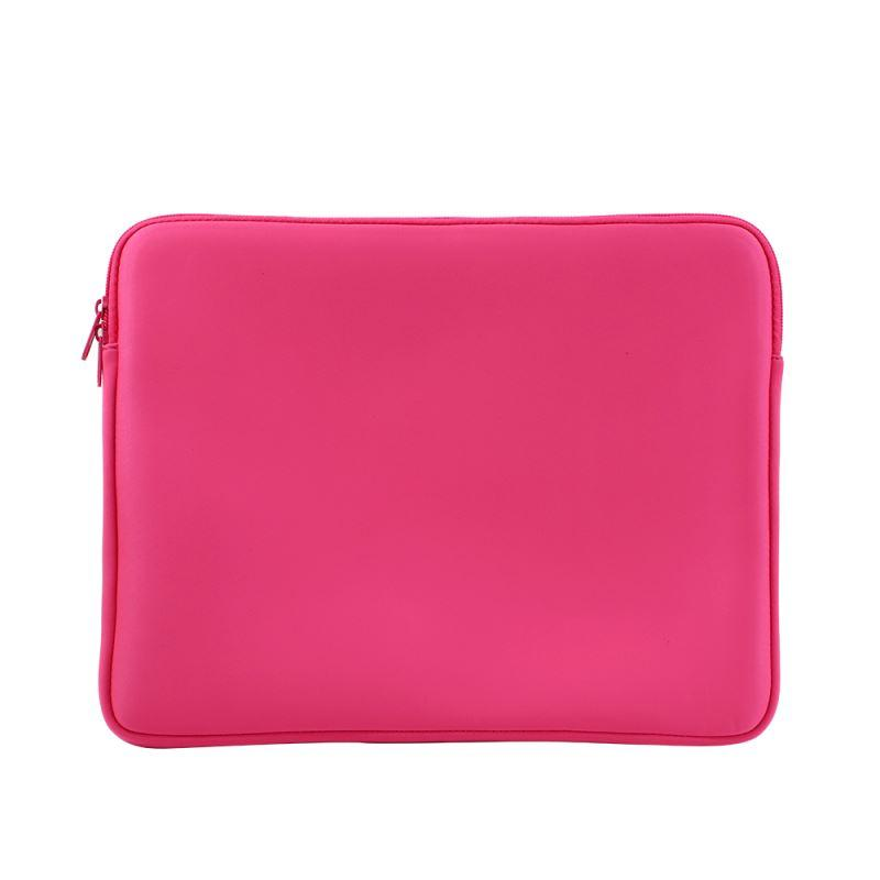 Sublimation blank Neoprene Sublimation Laptop Sleeve - 14 inch neon pink