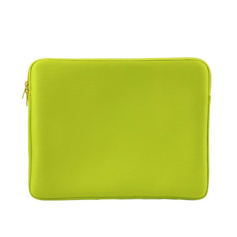 Neoprene Sublimation Laptop Sleeve - 14 inch neon green