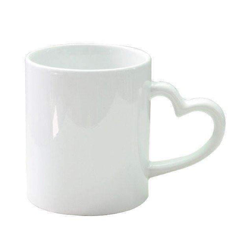 love heart style handled mug