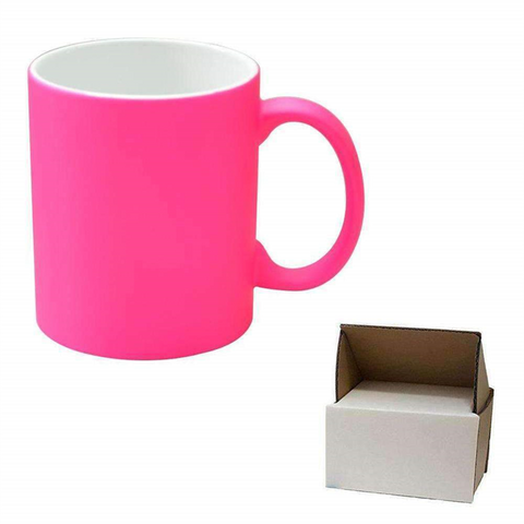 11oz Pink Neon Mug - Matte + Mug Box sublimation blanks