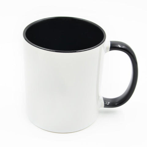 11oz black inner sublimation mug