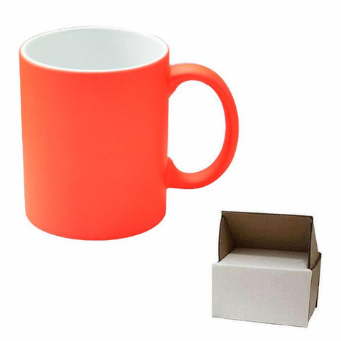 sublimation blank orange neon mug