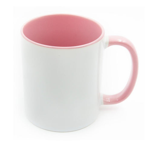 11oz pink inner sublimation mug