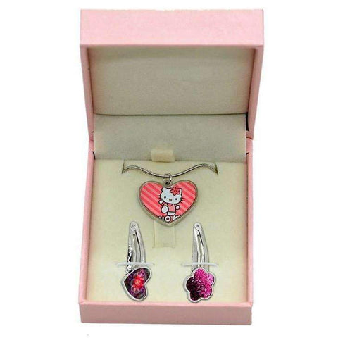 Pink gift box for necklace & hair pin