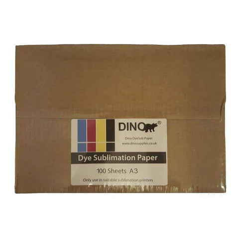A3 Dino DyeSub Sublimation Paper (Pack of 100 Sheets)