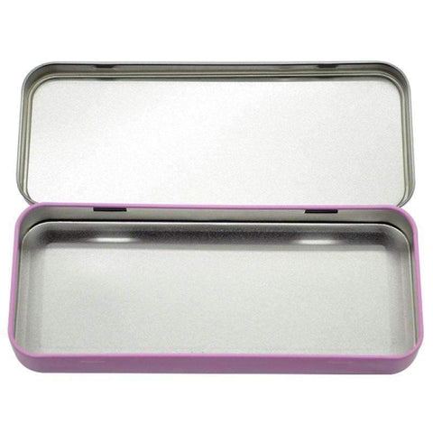 Pink Stationary metal tin