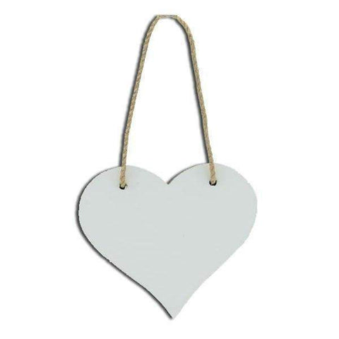 sublimation blank heart hanging plaque