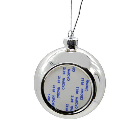 silver sublimation christmas bauble