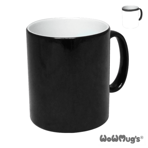 Sublimation blank 10oz Wow Mug Black Plus mug box