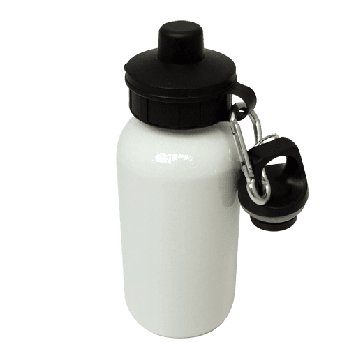 Aluminium Water Bottle 400ml White sublimation blanks