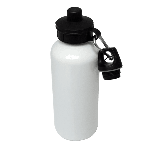 Aluminium Water Bottle 500ml White sublimation blanks
