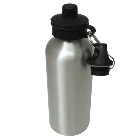 Aluminium Water Bottle 600ml Silver sublimation blanks