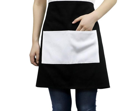 Adult Waist Apron with Pocket - Black