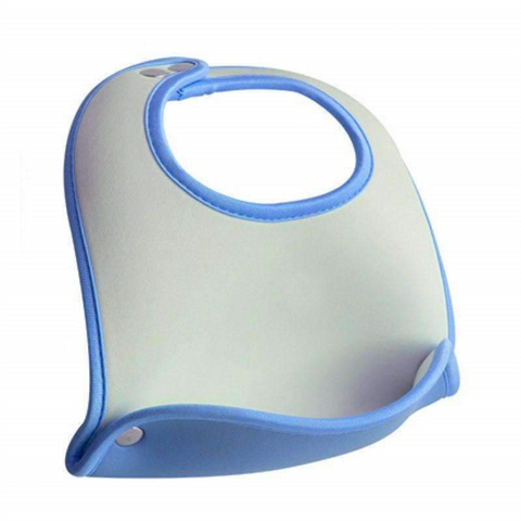 Blue Pocket Baby Bib sublimation blanks