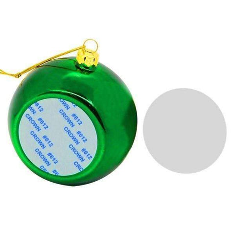 Christmas bauble - Green sublimation blanks