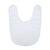 Fleece Baby Bib - White