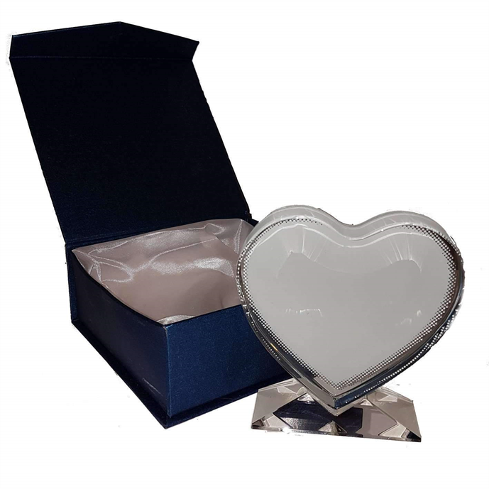 Large Crystal Block Heart sublimation blanks