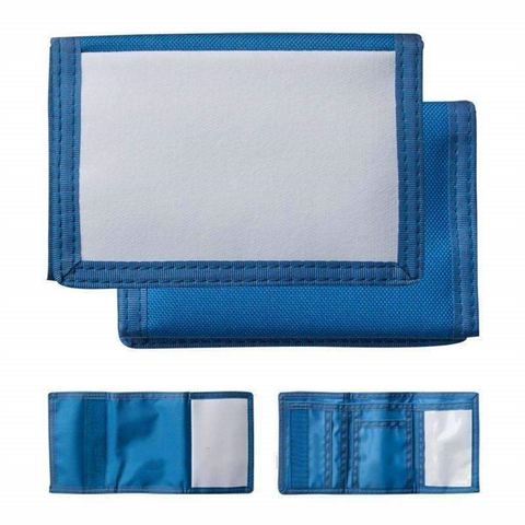 Mens Nylon Wallet Blue sublimation blanks
