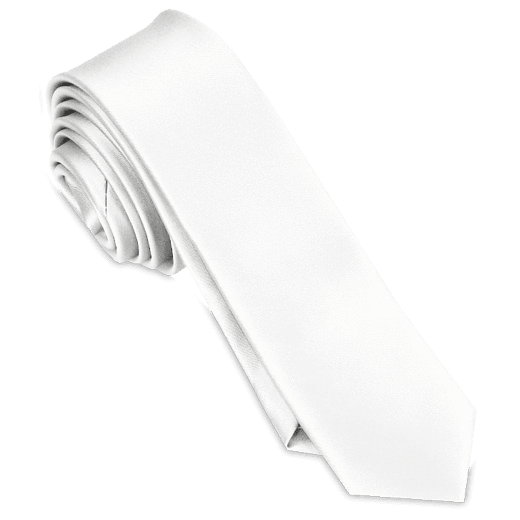 Mens White Silk Tie sublimation blanks