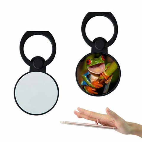 Round phone ring holder - Black sublimation blank