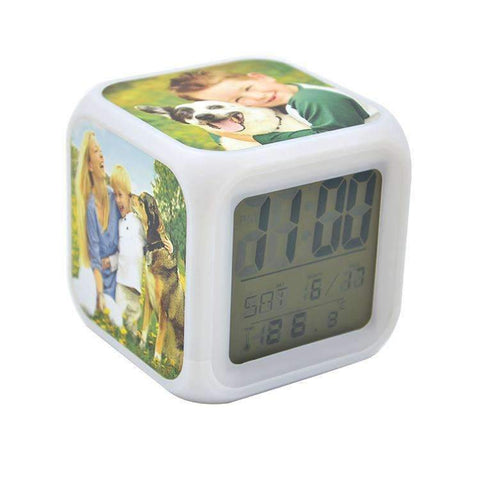 Sublimation blank Digital Alarm Clock - Light up colours