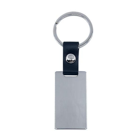 Sublimation blank metal keyring with leather chain